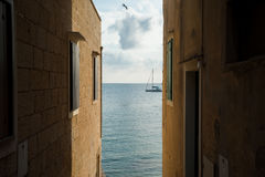 The streets of Vis, Croatia. Royalty Free Stock Image
