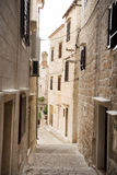 The streets of Vis, Croatia. Stock Images