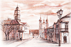 Streets of Vitebsk Stock Photo