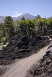 Streets Of Volcano. The image shows a private street at top of m.te Etna (2500 s.l.m.) uses from cars Stock Image