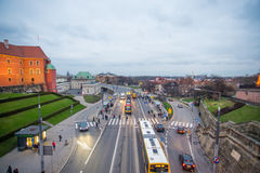 Streets of Warsaw Stock Image