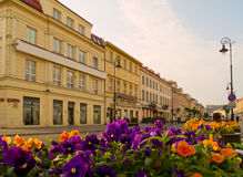 Streets of Warsaw, Poland Royalty Free Stock Photography