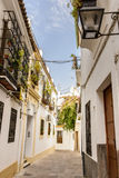 Streets in a white village of Andalucia, southern Spain Stock Photos