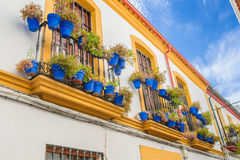 Streets in a white village of Andalucia, southern Spain Stock Images