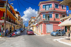 Streets of Zante town on Zakynthos island Stock Photos