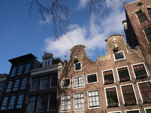Streetscape of Amsterdam, Netherlands. (near the Anne Frank House Royalty Free Stock Photography