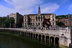 Streetscape av Spanien Arkivfoto