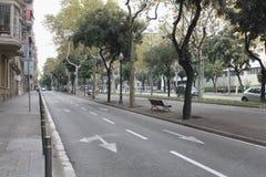 Streetscape Barcelona sistema de pesos americano diagonal Imágenes de archivo libres de regalías