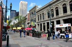 Streetscape de Calgary Fotografía de archivo