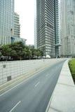 Streetscape de Shangai Lujiazui Imágenes de archivo libres de regalías
