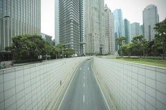 Streetscape de Shangai Lujiazui Fotos de archivo libres de regalías