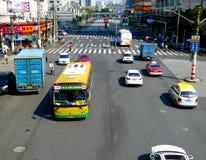 Streetscape della città di Shanghai Fotografie Stock Libere da Diritti