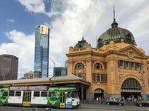 Streetscape di Melbourne Immagini Stock Libere da Diritti