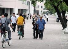 Streetscape 2013 di Pyongyang Immagini Stock