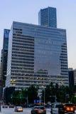 Streetscape do centro de Houston Foto de Stock