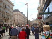 Streetscape en Europa Imagen de archivo libre de regalías