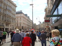 Streetscape en Europe Image libre de droits