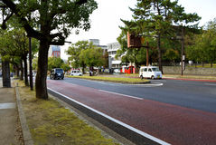 Streetscape en Nara Park, Nara Imagenes de archivo