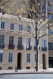 Streetscape met het Georgische huis van het heroplevingsterras royalty-vrije stock afbeelding