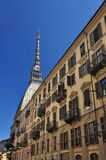 Streetscape and Mole Antonelliana, Torino, Italy.  Royalty Free Stock Images