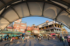 Streetscape of old streets in Tamsui Stock Image