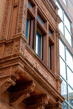 Streetscape protruding bay window in Philly Royalty Free Stock Images