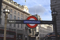 Underground Entrance in Piccadilly Circus stock photos
