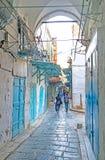 The streetscape of Tunis medina Stock Image