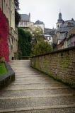 Streetscape van Luxemburg stock foto