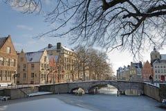 Streetscene in Brugge Stock Fotografie