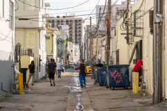 Streetscene Collins Ct em Miami Beach, Florida Imagem de Stock