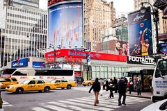 Streetscene de New York sur l'avenue de mode Images stock