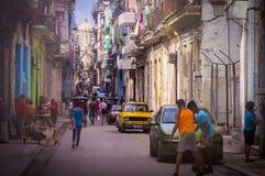 Streetscene in Havana, Kuba lizenzfreie stockfotos