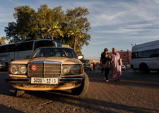Streetscene i medina av Marrakech, Marocko Royaltyfri Fotografi