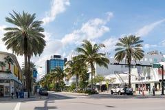 Streetscene Lincoln Road Miami Beach, Florida Stock Fotografie