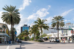 Streetscene Lincoln Road Miami Beach, Florida Stock Photography