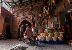 Streetscene in medina of Marrakech, Morocco Royalty Free Stock Image