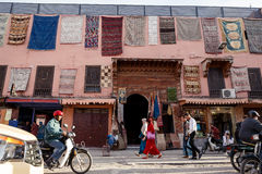 Streetscene in medina of Marrakech, Morocco Stock Photo