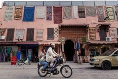 Streetscene in medina of Marrakech, Morocco Royalty Free Stock Photo