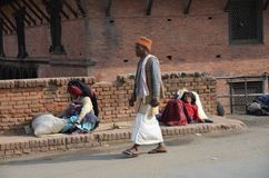 Streetscene nepalés Foto de archivo libre de regalías