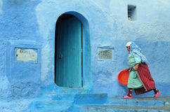 Streetscene in Northern Morocco Stock Photo