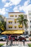 Streetscene oceanu Dr, Miami plaża Zdjęcia Stock