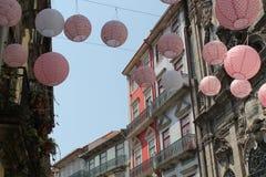 Streetscene Oporto, Portogallo Fotografie Stock Libere da Diritti