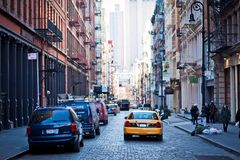Streetscene in Soho, New York Stock Images