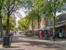 Streetscene Vlieland town, Holland Royalty Free Stock Photos