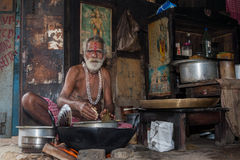 Streetside cook - East India. Royalty Free Stock Photography