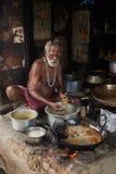 Streetside cook - East India. Stock Image