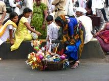 Streetside försäljare Royaltyfri Fotografi