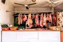 Streetside masarki ` s sklep, Santiago Sacatepequez, Gwatemala Obrazy Royalty Free