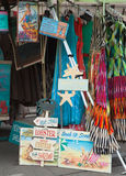 A streetside shop selling different things. Royalty Free Stock Photos